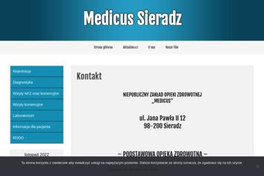 """NZOZ """"MEDICUS"""" - Psycholog Sieradz"""