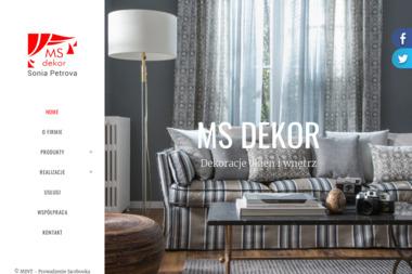 MS Dekor - Nowoczesne Szycie Firan Warszawa