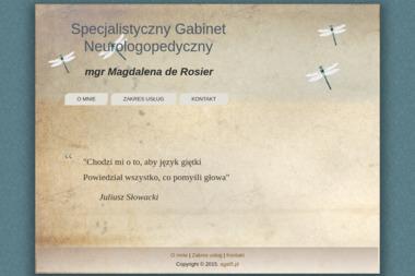 Specjalistyczny Gabinet Neurologopedyczny mgr Magdalena de Rosier - Logopeda Gniezno