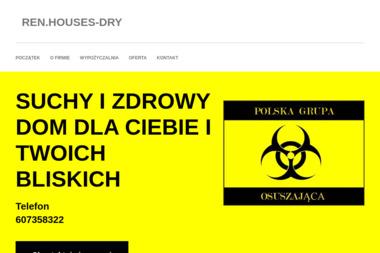 REN.HOUSES-DRY - Osuszanie, odgrzybianie Łódź