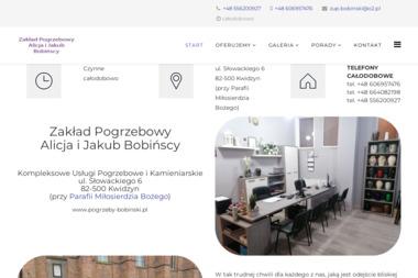 Zakład Pogrzebowy Bobiński - Nagrobki Kwidzyn