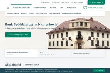 Bank Spółdzielczy w Namysłowie - Kredyty Konsolidacyjne Namysłów