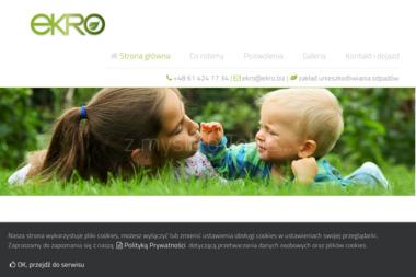 EKRO - Zakład Unieszkodliwiania Odpadów - Przetwarzanie odpadów Bolechowo