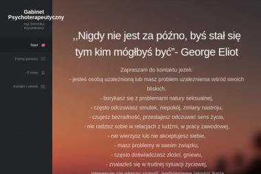 Gabinet Psychoterapeutyczny Dominika Krysztofowicz - Seksuolog Kalisz