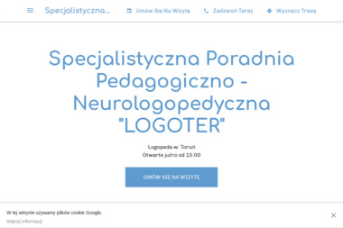"""Specjalistyczna Poradnia Pedagogiczno - Neurologopedyczna """"LOGOTER"""" - Logopeda Toruń"""