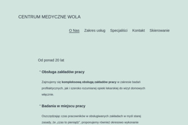 Centrum Medyczne WOLA - Medycyna pracy Poznań