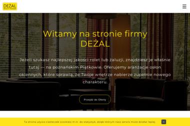 DEŻAL Rolety. Plisy. Żaluzje - Żaluzje Zewnętrzne Poznań