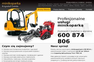 Usługi Minikoparką - Krzysztof Gońda - Drenaż Opaskowy Skierniewice