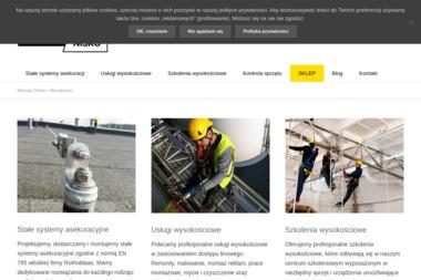Wysoko Nisko Alpinizm Przemysłowy - Odśnieżanie dachów Toruń