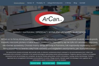 ArCan - Serwis sprzętu biurowego Poznań