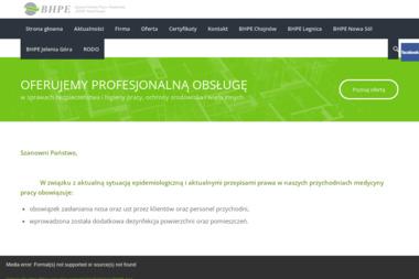 """Agencja Ochrony Pracy i Środowiska """"BHPE"""" - Szkolenia BHP Legnica"""
