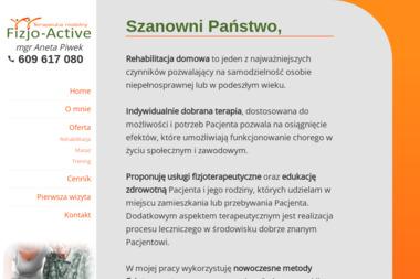 Fizjo-Active - Terapeuta mobilny - Masaż Strzelce Opolskie