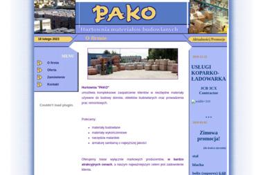 """""""PAKO"""" Hurtownia Materiałów Budowlanych - Market Budowlany Końskowola"""