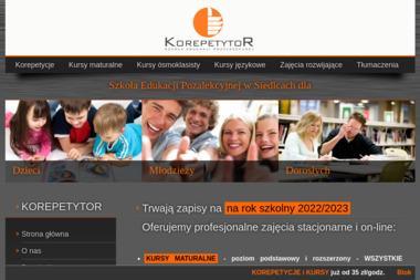 KOREPETYTOR - Szkoła językowa Siedlce
