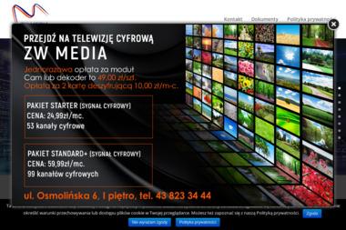 ZW MEDIA - Dostawcy internetu, usługi telekomunikacyjne Zduńska Wola