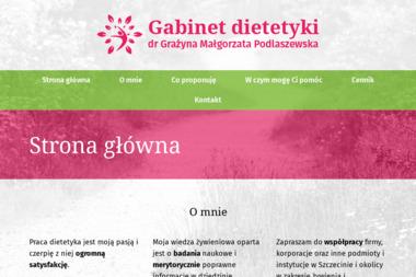 Dietetyk kliniczny - Grażyna Małgorzata Podlaszewska - Dietetyk Szczecin