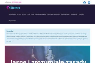 Elektra - Zaopatrzenie w energię elektryczną Warszawa