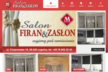 """Salon Firan & Zasłon """"Marzena"""" - Zasłony na Wymiar Legnica"""