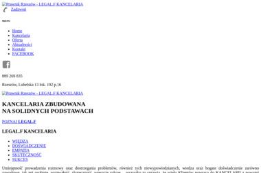 LEGAL.F KANCELARIA Paulina Fiejdasz Radca Prawny - Adwokat Rzeszów