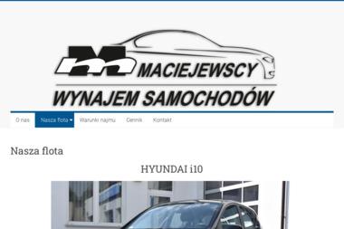 Wynajem Samochodów - Maciejewscy - Wypożyczalnia samochodów Ostrów Wielkopolski