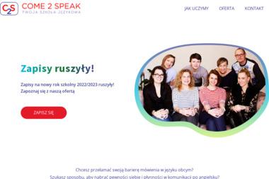 Come2Speak - Nauczyciele angielskiego Płock