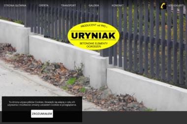 Uryniak - Betonowe Elementy Ogrodzeń - Ogrodzenia betonowe Rzeszów