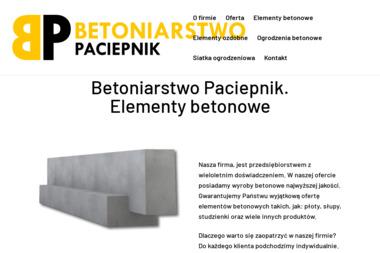 Betoniarstwo Paciepnik - Elementy Ogrodzeniowe Truskolasy