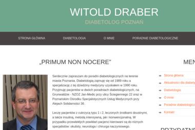 Dr n. med. Witold Draber Specjalista diabetolog - Diabetolog Poznań