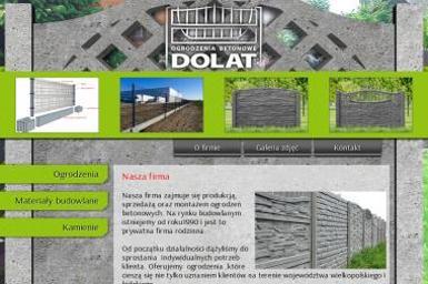 Ogrodzenia Betonowe - DOLAT - Elementy Ogrodzeniowe Betonowe Morawin