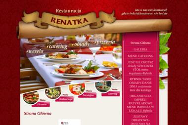 """RESTAURACJA - PIZZERIA """"RENATKA"""" - Firma Gastronomiczna Rybnik"""
