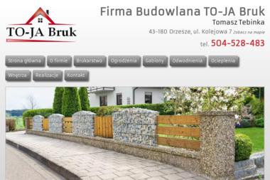 Firma Budowlana TO-JA Bruk - Ogrodzenia betonowe Orzesze