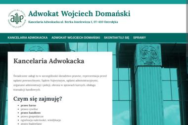 Adwokat Wojciech Domański Kancelaria Adwokacka - Adwokat Ostrołęka