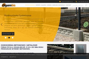 GIGAM-BIS - Producent Ogrodzeń Betonowych Gdańsk
