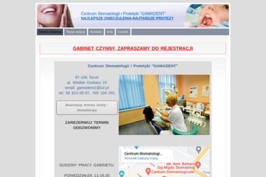 """Centrum Stomatologii i Protetyki """"GAMADENT"""" - Protetyk Toruń"""