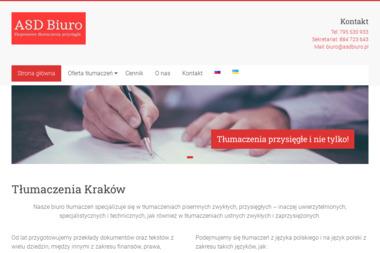 Tłumaczenia Kraków - Biuro tłumaczeń ASD - Tłumacz Języka Angielskiego Kraków