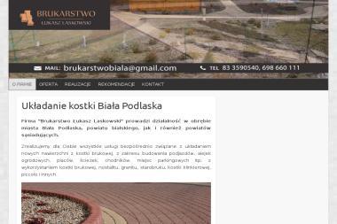 Brukarstwo 艁ukasz Laskowski - Uk艂adanie kostki brukowej Bia艂a Podlaska