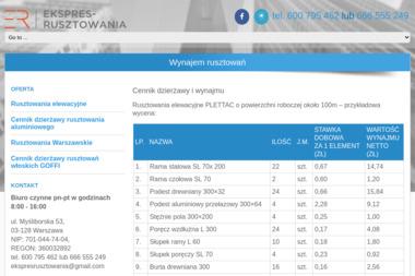 Ekspres Rusztowania - Wynajem Rusztowania Warszawa