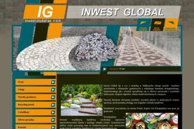 INWEST GLOBAL - Układanie kostki brukowej Wałbrzych