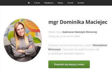 Dominika Maciejec - dietetyk kliniczny - Odchudzanie Kielce