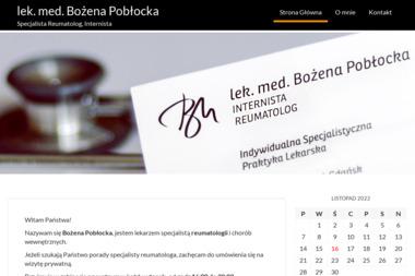 Reumatolog lek. med. Bożena Pobłocka - Reumatolog Gdańsk