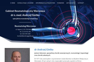 Specjalista Reumatolog i Hepatolog dr med. Andrzej Gietka - Reumatolog Warszawa