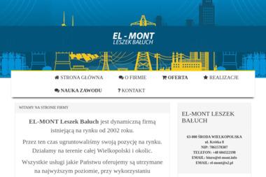 EL-MONT Leszek Bałuch - Montaż oświetlenia Środa Wielkopolska