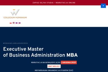 Executive Master of Business Administration Collegium Humanum - Uczelnie wyższe Warszawa