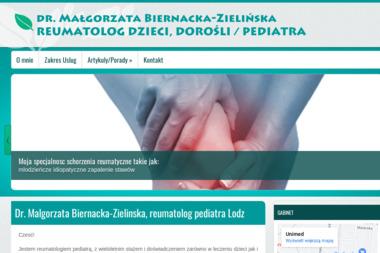 Specjalista reumatolog  dr n.med Malgorzaty Biernackiej – Zielinskiej - Reumatolog Łódź