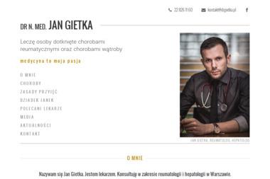 Reumatolog dr n. med. Jan Gietka - Reumatolog Warszawa