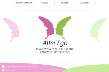"""Pracownia Psychologiczna i Rozwoju Osobistego """"Alter Ego"""" - Psycholog Kalisz"""