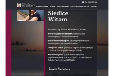 Psycholog - Jolanta Bartosiewicz - Psycholog Siedlce