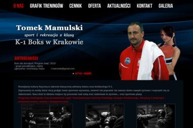 K-1 Boks Tomasz Mamulski - Sporty walki, treningi Kraków