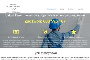 Tynki maszynowe Dawid Kaczorowski - Tynki Maszynowe Mąkoszyn