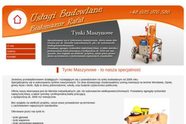 Usługi Ogólnobudowlanetynki maszynowe  Białomazur Rafał - Tynki Maszynowe Niwnica